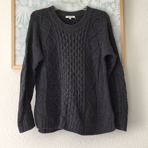 Madewell grey cotton sweater Medium